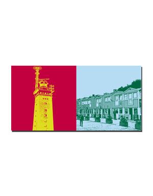 ART-DOMINO® BY SABINE WELZ Helgoland - Leuchtturm Oberland + Hummerbuden