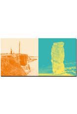 ART-DOMINO® BY SABINE WELZ Helgoland - Küstenblick von der Nordspitze + Lange Anna