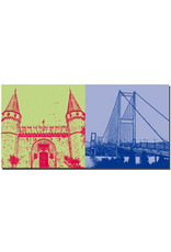 ART-DOMINO® BY SABINE WELZ Istanbul - Topkapi + Bosporusbrücke