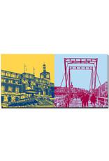 ART-DOMINO® BY SABINE WELZ Kiel - Hauptbahnhof mit Treppe + Hörnbrücke
