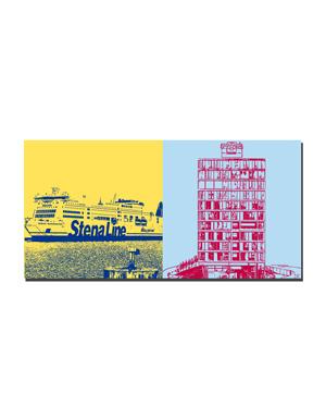 ART-DOMINO® BY SABINE WELZ Kiel - Stena Line + Port of Kiel