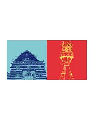 ART-DOMINO® BY SABINE WELZ Kiel - Bahnhofskai + Schwedenkai