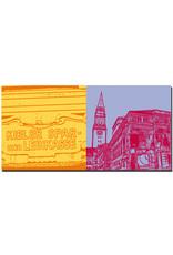 ART-DOMINO® BY SABINE WELZ Kiel - Kieler Sparkasse + Oper mit Rathaus