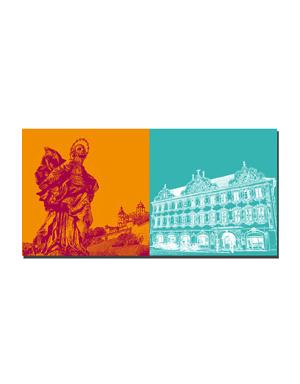 ART-DOMINO® BY SABINE WELZ Würzburg - Patrona Franconiae Heilige Jungfrau Maria + Falkenhaus