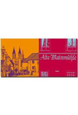 ART-DOMINO® BY SABINE WELZ Würzburg - Blick über Mainbrücke Richtung Altstadt + Alte Mainmühle