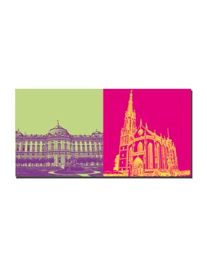 ART-DOMINO® BY SABINE WELZ Würzburg - Residenz + Marienkapelle