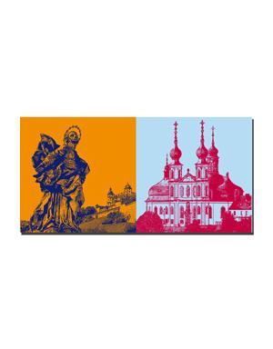 ART-DOMINO® BY SABINE WELZ Würzburg - Patrona Franconiae Heilige Jungfrau Maria + Käppele/Wallfahrtskirche