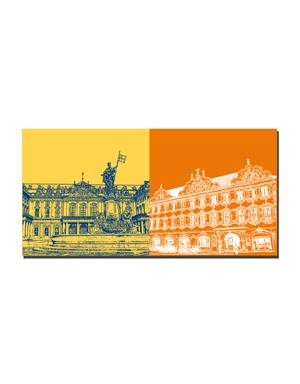 ART-DOMINO® BY SABINE WELZ Würzburg - Residenz + Falkenhaus