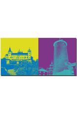 ART-DOMINO® BY SABINE WELZ Würzburg - Blick auf Festung Marienberg + Bergfried