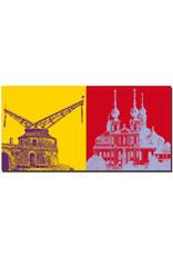 ART-DOMINO® BY SABINE WELZ Würzburg - Alter Kranen + Käppele/Wallfahrtskirche