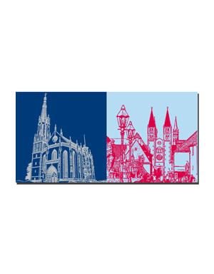 ART-DOMINO® BY SABINE WELZ Würzburg - Marienkapelle + Dom St. Kilian