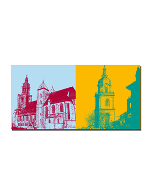 ART-DOMINO® BY SABINE WELZ Heilbronn - Kilianskirche + Hafenmarktturm