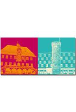 ART-DOMINO® BY SABINE WELZ Heilbronn - Altes Rathaus + Bollwerksturm
