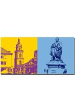 ART-DOMINO® BY SABINE WELZ Heilbronn - Hafenmarktturm + Robert Mayer - Denkmal