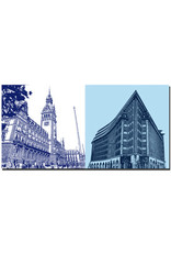 ART-DOMINO® BY SABINE WELZ Hamburg - Rathaus + Chile-Haus