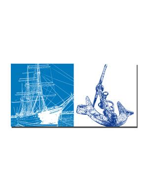 ART-DOMINO® BY SABINE WELZ Hamburg - Rickmer Rickmers + Anker im Hafen