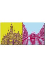 ART-DOMINO® BY SABINE WELZ Hamburg - HHLA Haus + Fleet/Speicherstadt