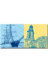 ART-DOMINO® BY SABINE WELZ Hamburg - Rickmer Rickmers + St. Michaelis