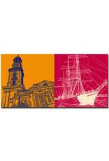 ART-DOMINO® BY SABINE WELZ Hamburg - St. Michaelis + Rickmer Rickmers