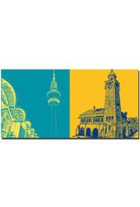 ART-DOMINO® BY SABINE WELZ Hamburg - Telemichel + Landungsbrücken