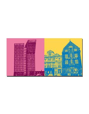 ART-DOMINO® BY SABINE WELZ Hamburg - Tanzende Türme + Davidswache