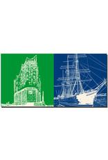 ART-DOMINO® by SABINE WELZ Hamburg - Elbphilharmonie + Rickmer Rickmers