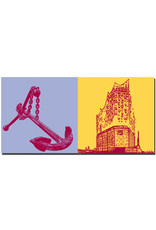ART-DOMINO® by SABINE WELZ Hamburg - Anchor in the harbor + Elbphilharmonie