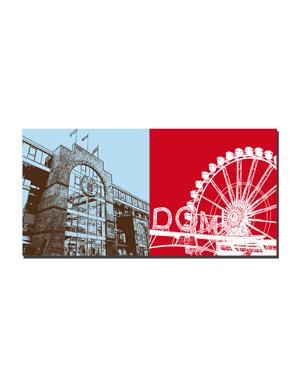 ART-DOMINO® BY SABINE WELZ Hamburg - Millerntor + Hamburger Dom