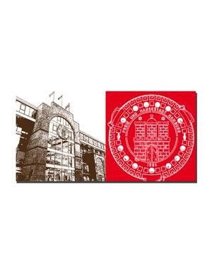 ART-DOMINO® by SABINE WELZ Hamburg - Millerntor + Wappen