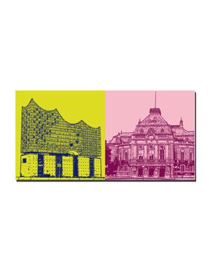 ART-DOMINO® BY SABINE WELZ Hamburg - Elbphilharmonie + Laeiszhalle