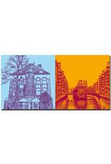 ART-DOMINO® BY SABINE WELZ Hamburg - Fleetschlösschen + Fleet/Speicherstadt