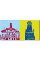 ART-DOMINO® BY SABINE WELZ Lüneburg - Rathaus + Wasserturm