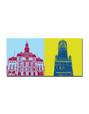 ART-DOMINO® by SABINE WELZ Lüneburg - Town hall + Wasserturm