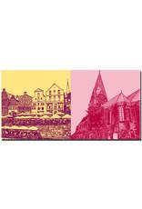 ART-DOMINO® by SABINE WELZ Lüneburg - Am Stintmarkt + St. Johanniskirche