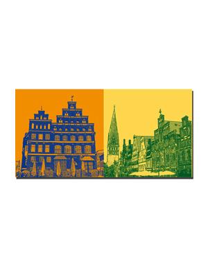 ART-DOMINO® BY SABINE WELZ Lüneburg - Platz am Sande-IHK + Am Sande und St. Johanniskirche