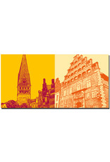 ART-DOMINO® BY SABINE WELZ Lüneburg - St. Johanniskirche und Am Sande + Alte Ratsapotheke
