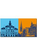 ART-DOMINO® BY SABINE WELZ Lüneburg - Rathaus + Am Sande und St. Johanniskirche