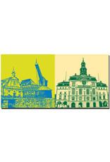 ART-DOMINO® by SABINE WELZ Lüneburg - Alter Kran + Town hall