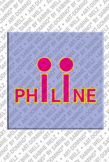ART-DOMINO® BY SABINE WELZ Philine - Magnet with the name Philine
