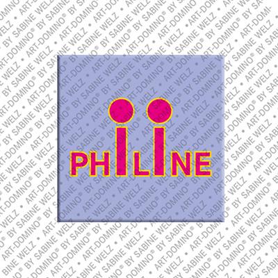 ART-DOMINO® by SABINE WELZ Philine - Magnet mit dem Vornamen Philine