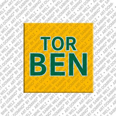 ART-DOMINO® by SABINE WELZ Torben - Magnet mit dem Vornamen Torben