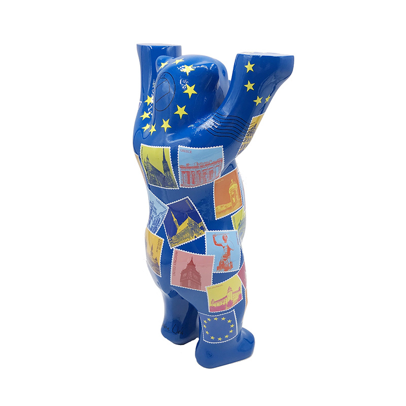 ART-DOMINO® by SABINE WELZ Buddy Bär mit Europa-Motiven - 22 cm