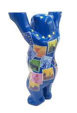 ART-DOMINO® by SABINE WELZ Buddy Bear with Europe motifs - 22 cm