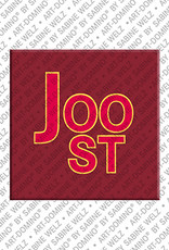 ART-DOMINO® by SABINE WELZ Joost - Magnet mit dem Vornamen Joost