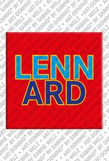 ART-DOMINO® by SABINE WELZ Lennard - Magnet mit dem Vornamen Lennard