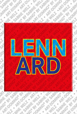 ART-DOMINO® by SABINE WELZ Lennard - Magnet with the name Lennard