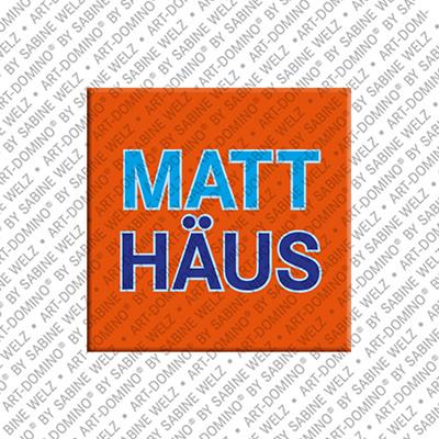 ART-DOMINO® by SABINE WELZ Matthäus - Magnet mit dem Vornamen Matthäus