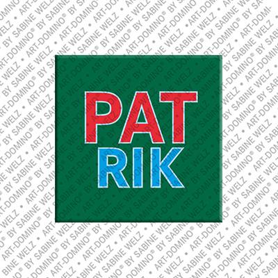 ART-DOMINO® BY SABINE WELZ Patrik - Magnet mit dem Vornamen Patrik