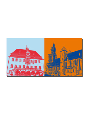ART-DOMINO® by SABINE WELZ Heilbronn - Old Town Hall + Kilianskirche