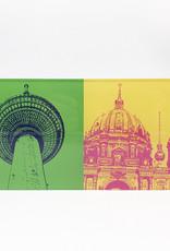 ART-DOMINO® by SABINE WELZ Berlin - Fernsehturm + Berliner Dom